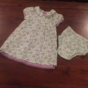 Baby Gap cotton floral dress and cover